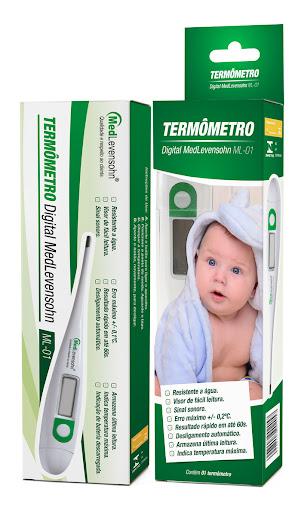 Termômetro Clínico Digital ML-01 Medlevensohn