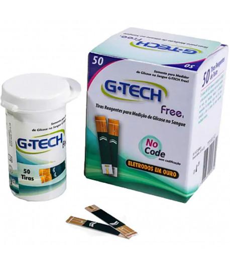 Tiras para Medir Glicose G-TECH Free - 50 unidades