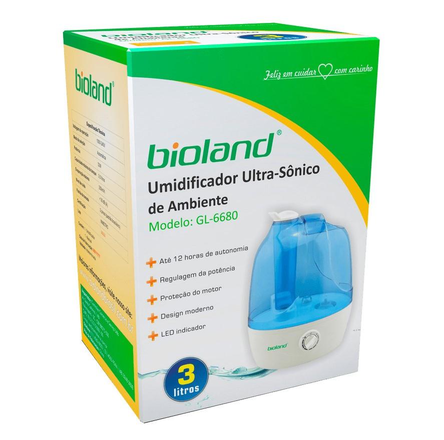 Umidificador de Ar Ultrassônico 3L - Bioland