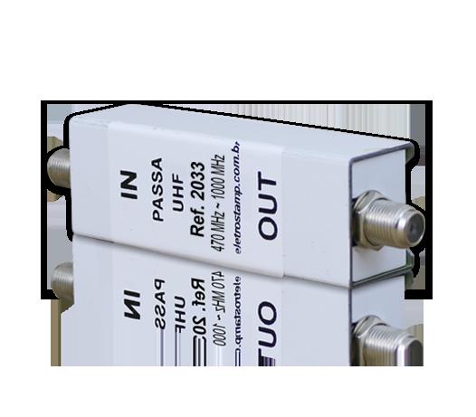 Filtro UHF e Cabo hiperbanda (filtro passa alto)