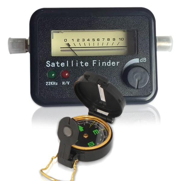 Localizador de Satélite Finder Banda C & Ku + Bússola
