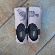 Sapato Quadrado Pássaro Peixe