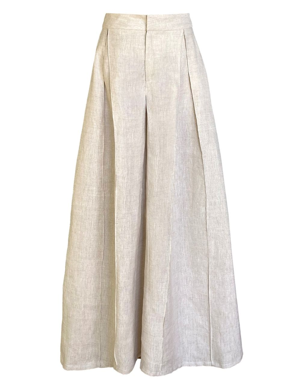Calça Saia Pantalona Linho Puro