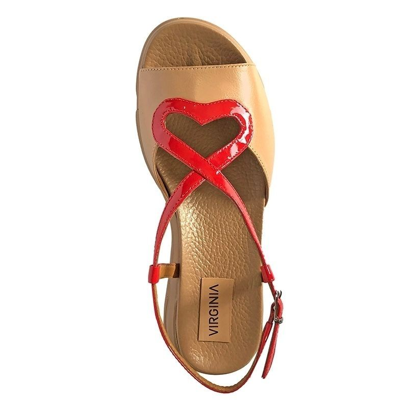 Sandália Plataforma Coração