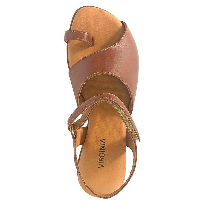 Sandália Rasteira Dedo Pantone 3216