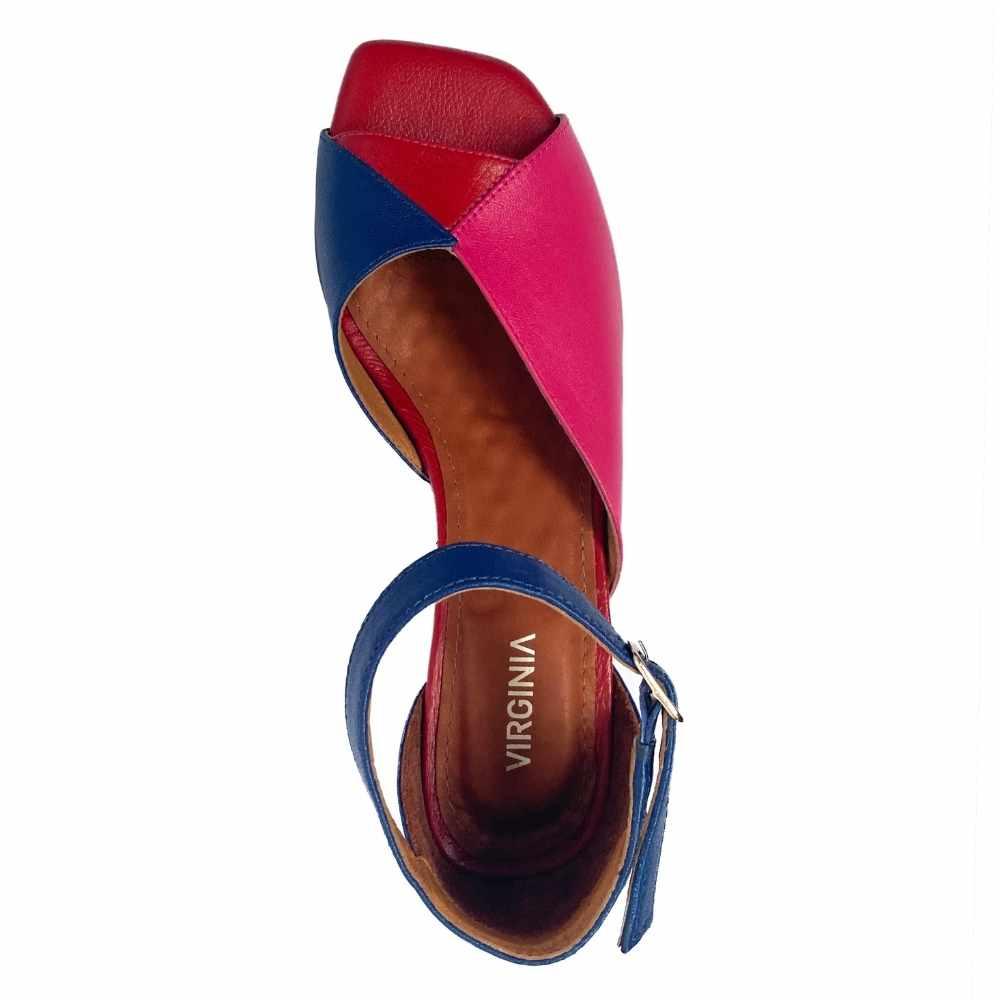Sandália Três Cores
