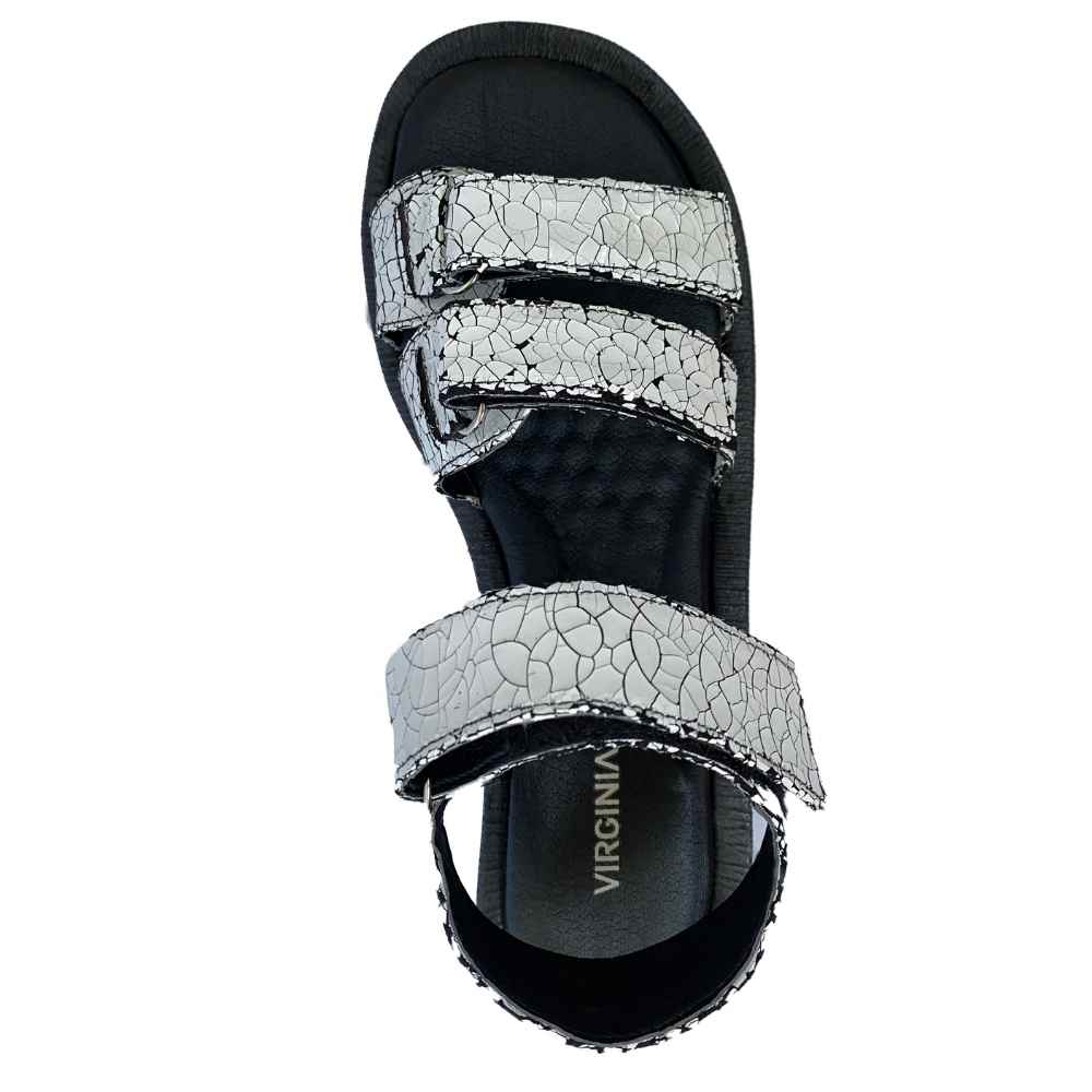 Sandália Velcro Couro