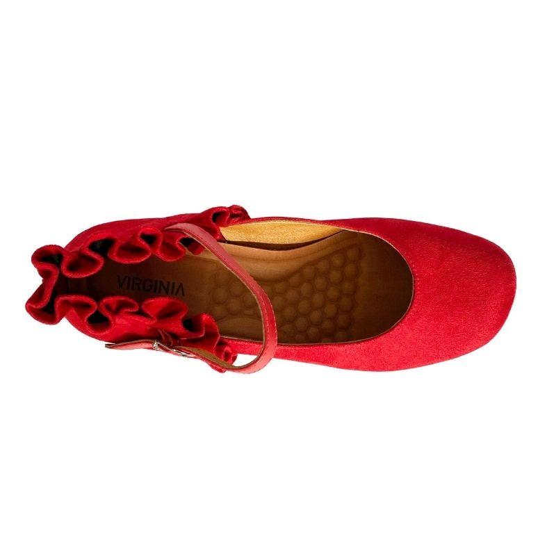 Sapato Boneca Babado Camurça
