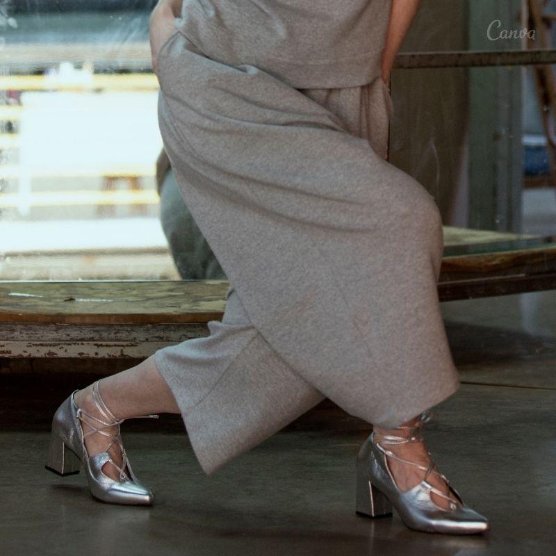 Sapato Trançado Salto