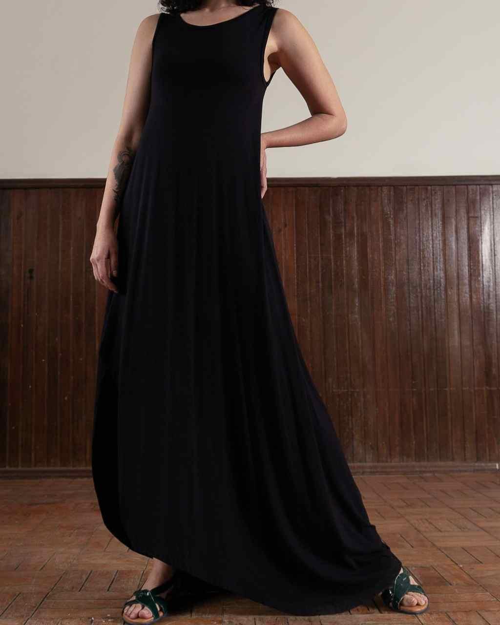 Vestido Fenda Lateral