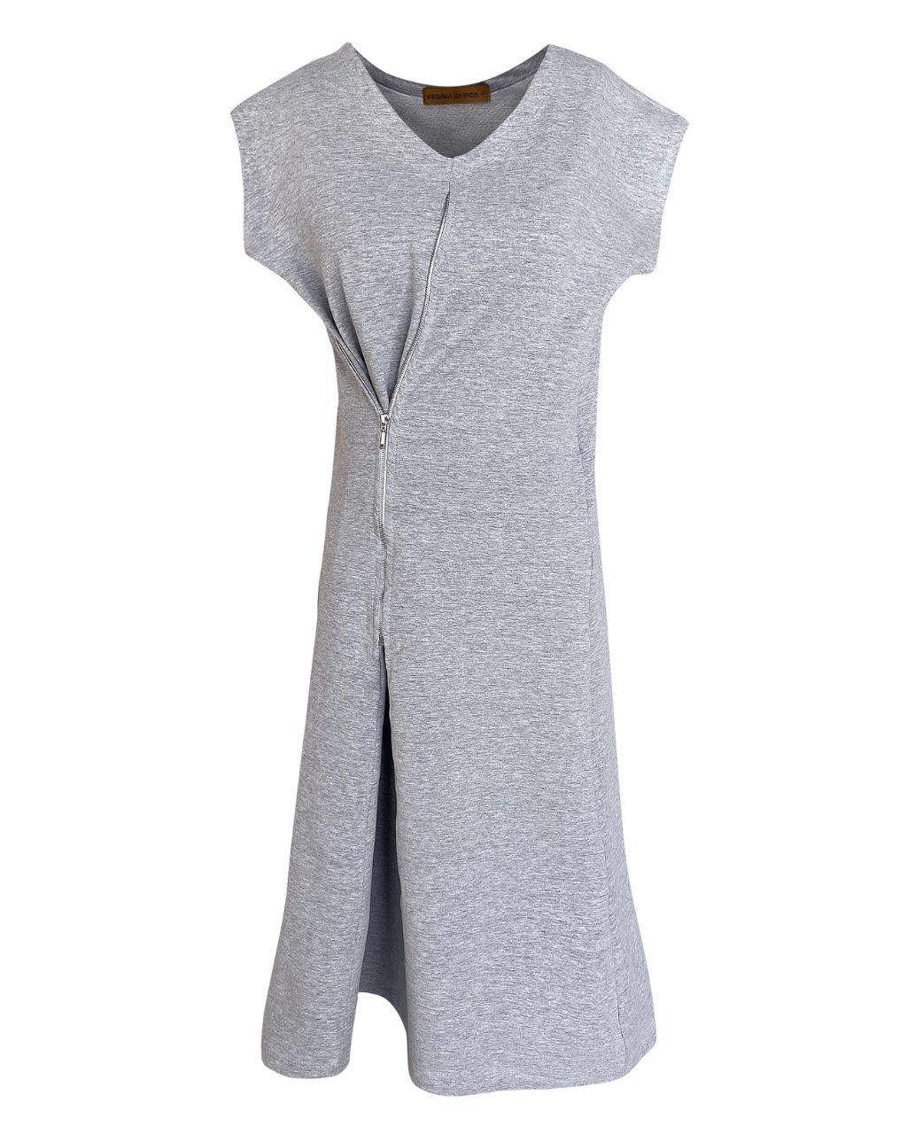 Vestido Zíper Lateral Moletom