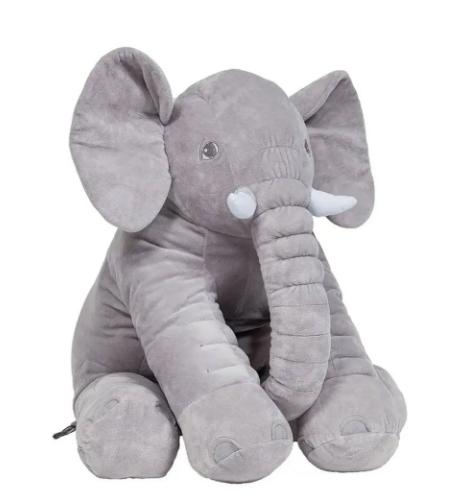 Almofada Elefante Gigante - Cinza Buba - 48 Cm