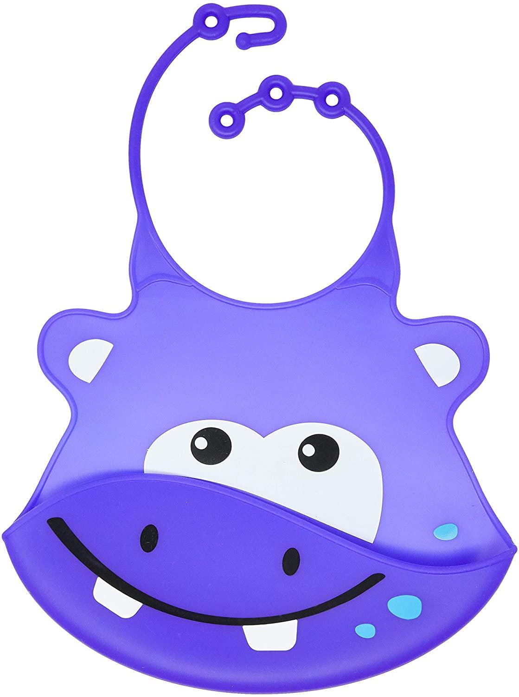 Babador de Silicone Hipopótamo - Multikids Baby