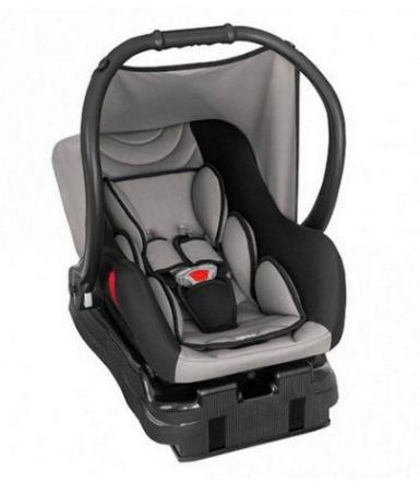 Bebê Conforto Ello C/ Base (0 a 13 Kg) Preto Cinza - Tutti Baby