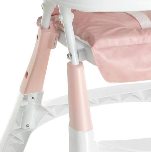 Cadeira De Alimentação Alta Premium Rosa - GALZERANO