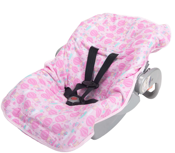 Capa Para Bebê Conforto Balões Rosa - BAMBI
