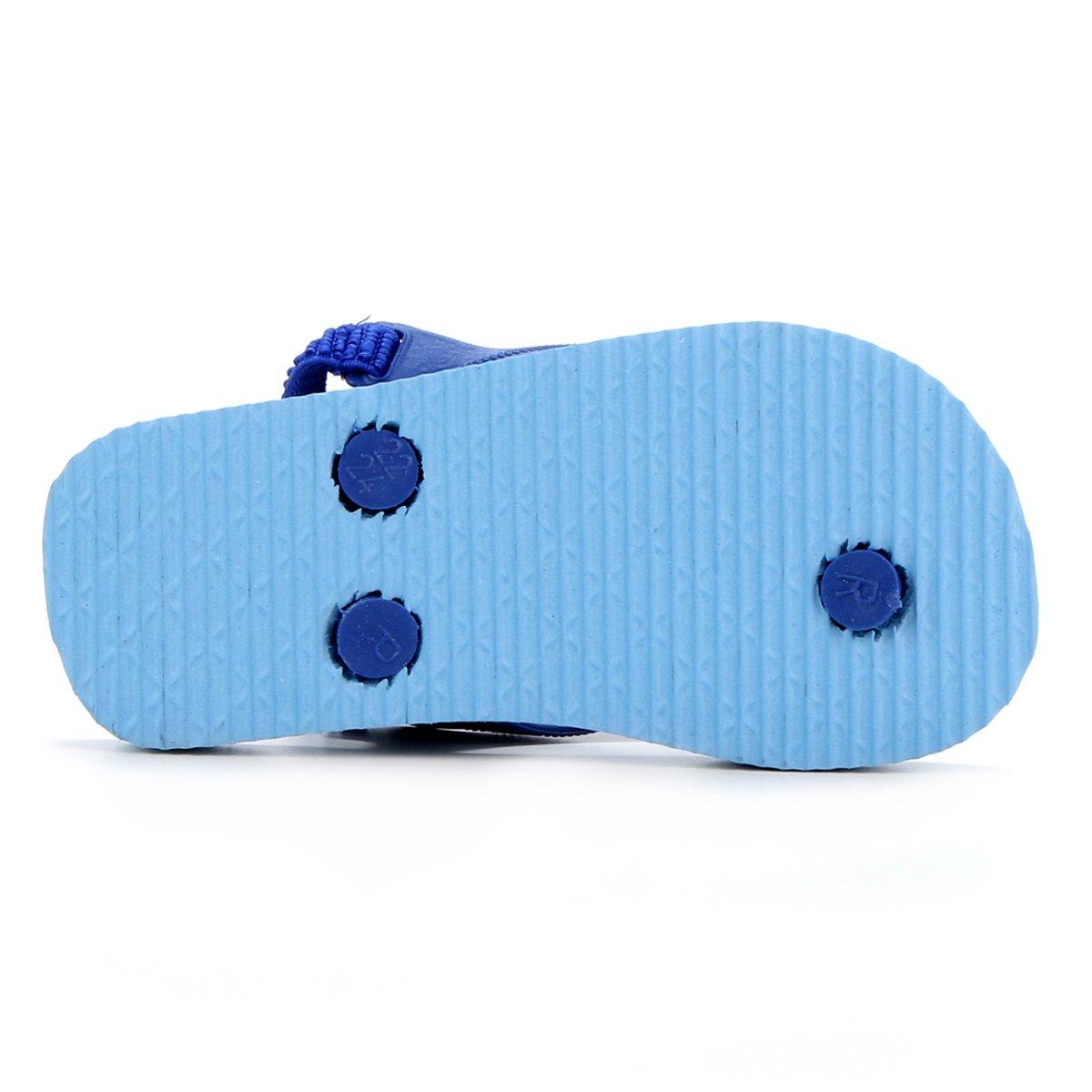 Chinelo Pimpolho Estampado Azul Lobinho