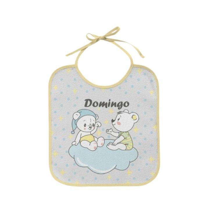 Kit 7 Babadores para bebê em Atoalhado Semaninha Amarelo Bambi