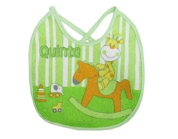 Kit 7 Babadores Para Bebê em Atoalhado Semaninha Verde - Papi