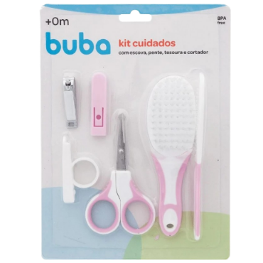 Kit Cuidados S/ Estojo Rosa  - BUBA