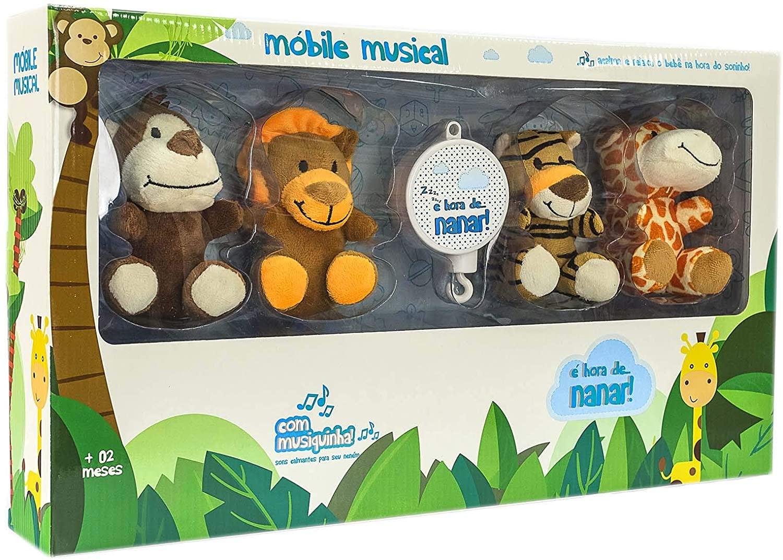 Móbile Pelúcia Musical Safari - UNIK