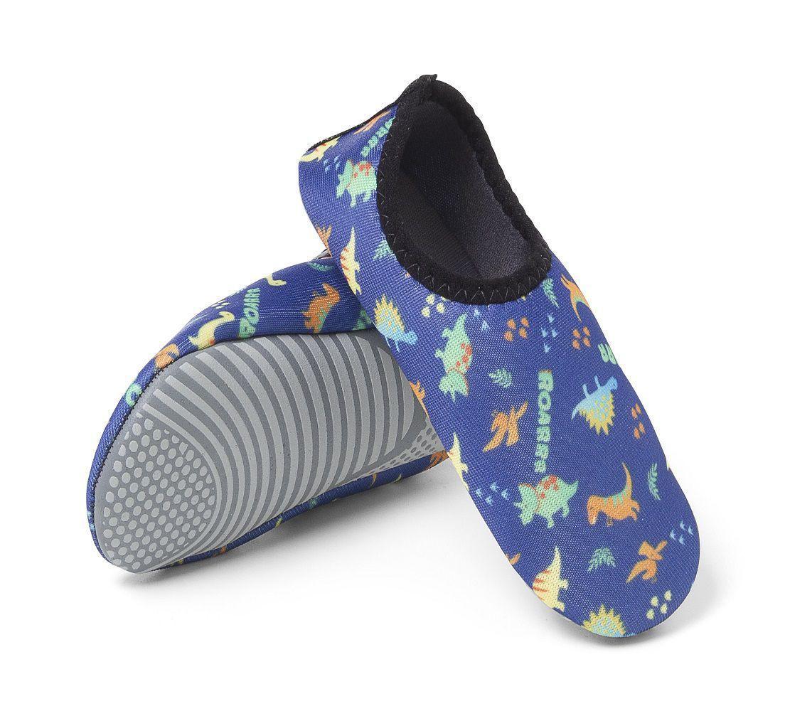 Sapatilha Protetora Infantil Antiderrapante Duck Way Azul Estampado
