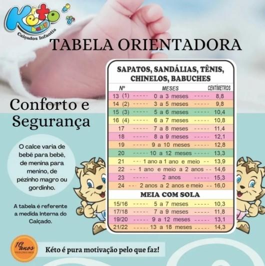 Tênis Casual Keto Baby Preto C/ Branco