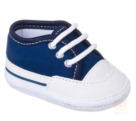 Tênis Casual Para Bebê Azul Marinho  - Keto Baby
