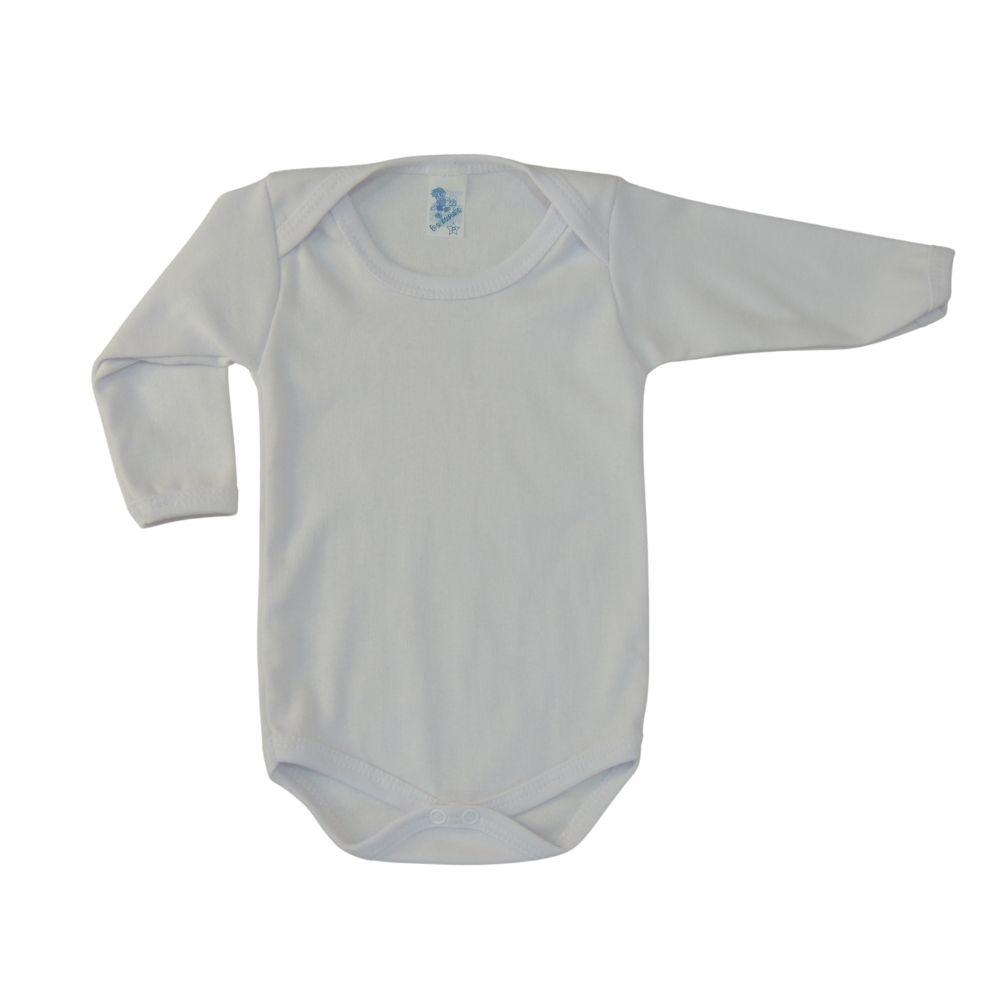 Body  De Bebê Manga Longa Branco