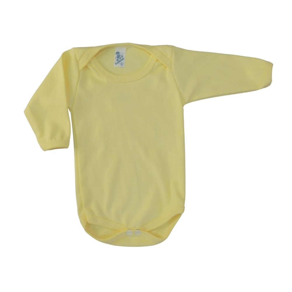 Bodie de Bebê  Manga Longa Amarelo