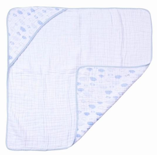 Toalha de Banho Soft Papi - Azul Voo 80 x 80cm com Capuz
