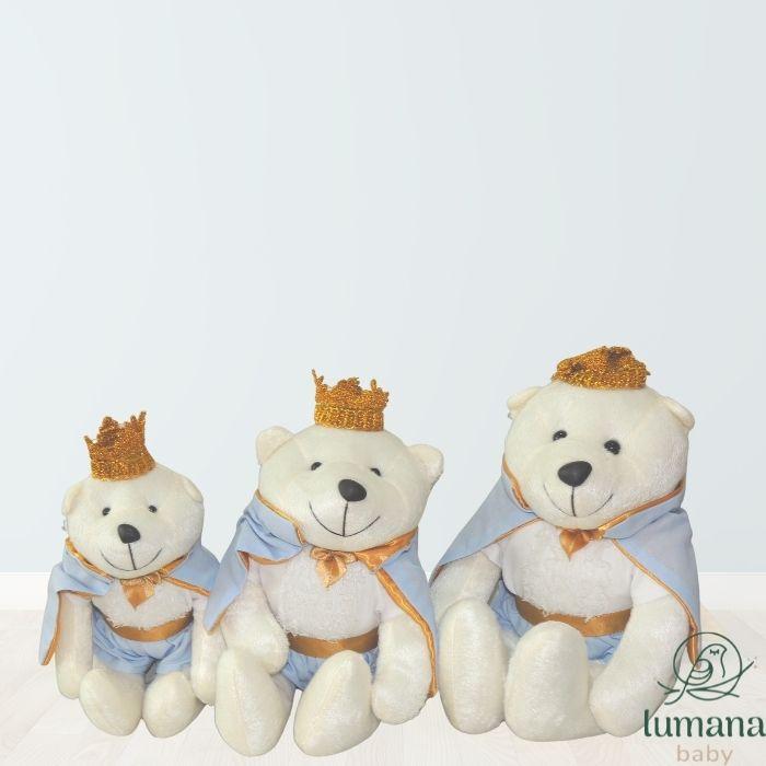 Trio de Pelúcias Para Nichos - Ursinho Príncipe