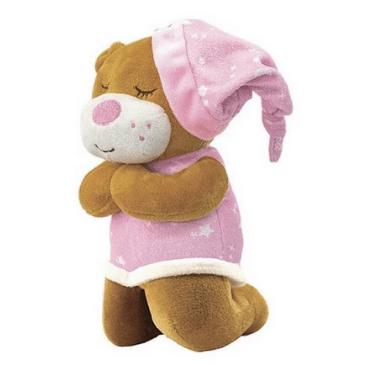Urso De Pelúcia Que Ora O Pai Nosso Rosa - UNIK