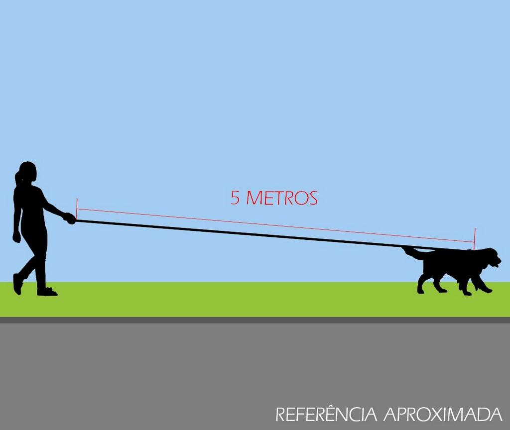 Guia Longa de 5 metros Roxo CoolDog