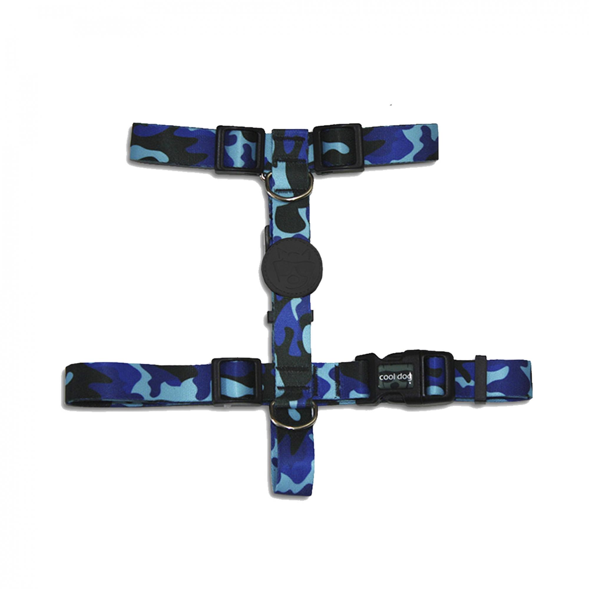 Kit Blue Army - Peitoral e Guia - CoolDog