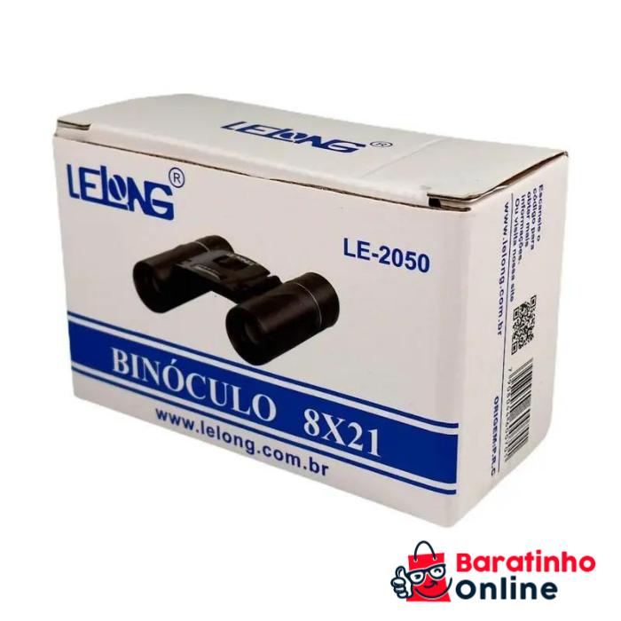 Binóculo 8x211 LE-2050 Preto  - Baratinho Online