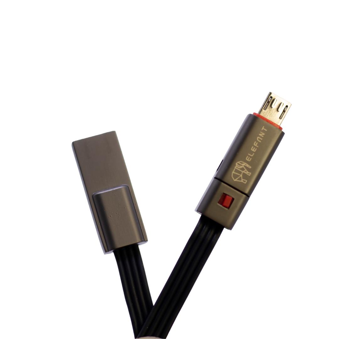 Cabo Regenerativo 2A Micro USB Black  - Baratinho Online