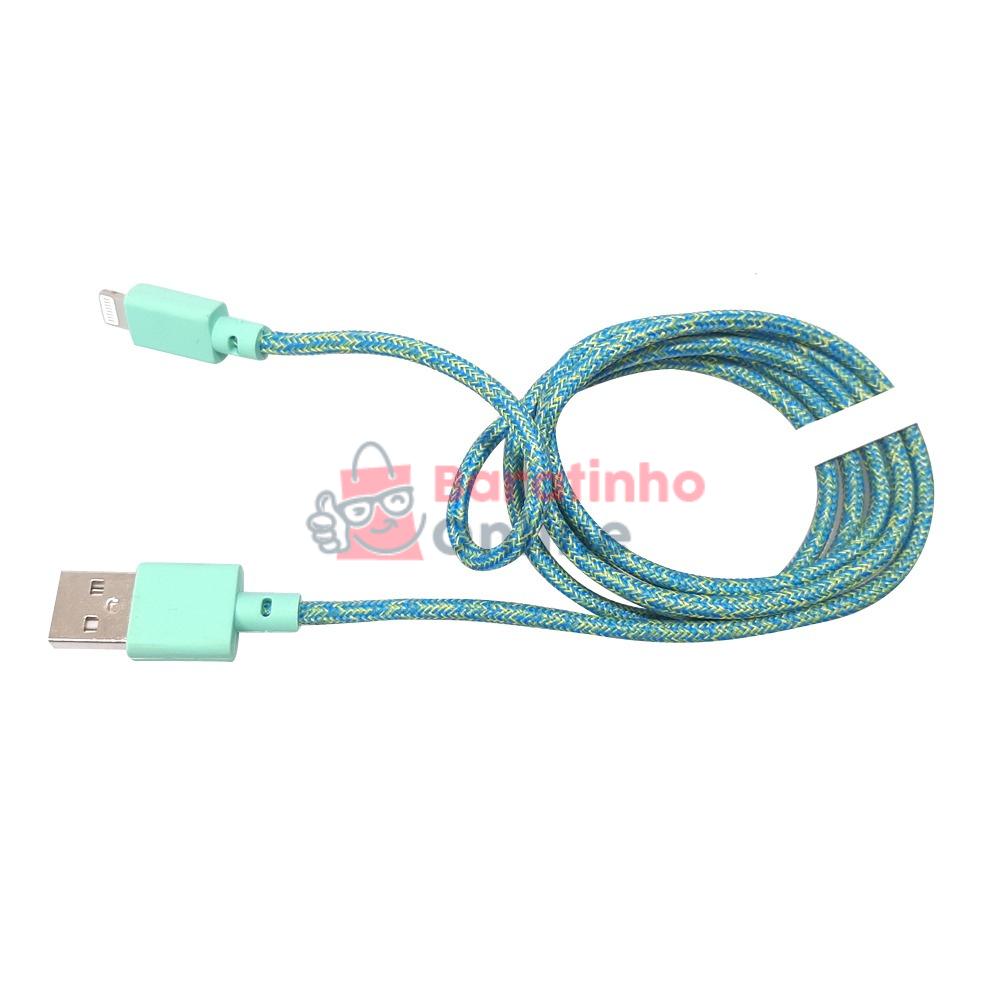 Cabo Usb/Lightning Azul / Elefant  - Baratinho Online