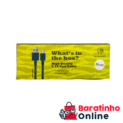Cabo Usb/ V8 Blue  - Baratinho Online