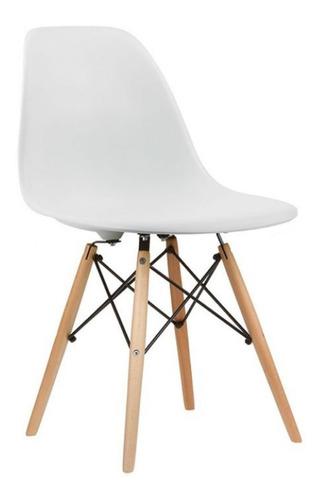 Cadeira Em Abs Com Base Em Madeira Umix 331f Branca Fosca  - Baratinho Online