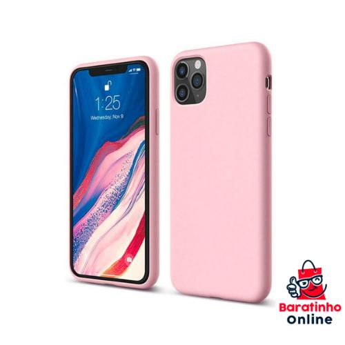 Capa Case Aveludada P/ iPhone 12 Pro Max - Encaixe Perfeito Preta  - Baratinho Online