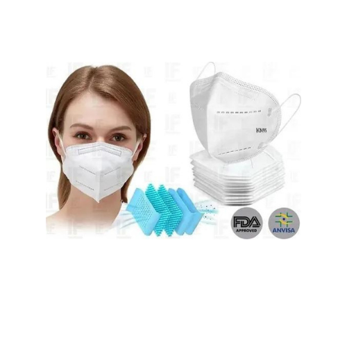 Kit 5 Máscara Respiratória Proteção Kn95  - Baratinho Online