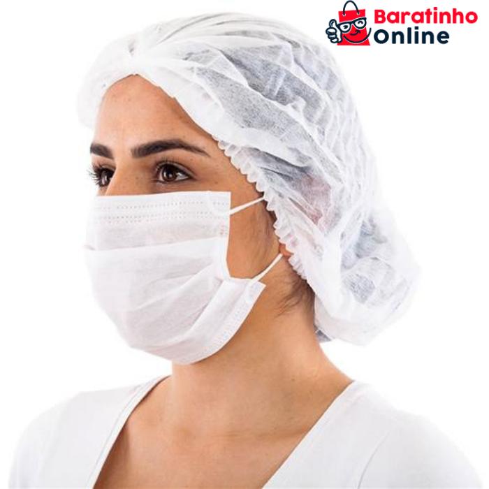 Máscara Descartável Tripla Facial C Filtro Caixa 100 Unidades  - Baratinho Online