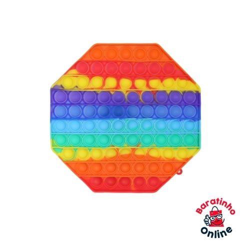 Pop It Fidget Toys Brinquedo Anti Stress Sensorial Colorido 20cm Antistress  - Baratinho Online