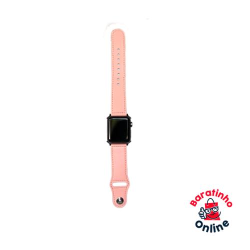 Pulseira l Apple Watch de couro / compatível 38 40 42 44m Serie 1 2 3 4 5 Rose  - Baratinho Online