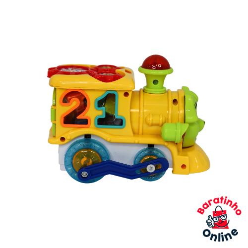 Trenzinho Elétrico Brinquedo Trem Musical  - 0805-b  - Baratinho Online