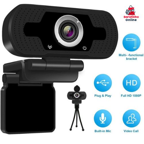 Webcam Full HD 1080P Modelo LS F37 - Loosafe  - Baratinho Online