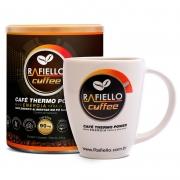 Café Termogênico Vegano Funcional Pré Treino  Rafiello Coffee  S/glútem Zero Lactose 220g + xícara de 330ml