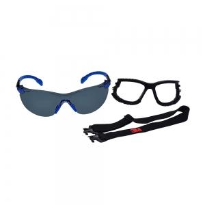 Kit Óculos de Proteção 3M Solus 1000 Antirrisco e Antiembaçante Cinza