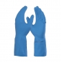Luva de Latex Natural Danny Silver Grip DA 360 Azu